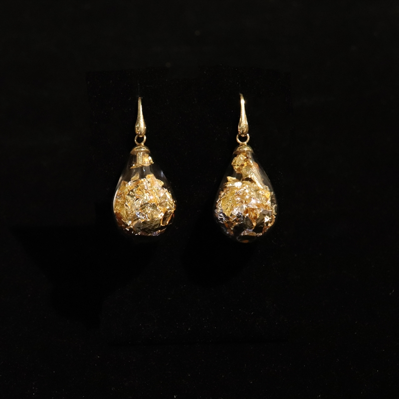 AIR 22 FAO EARRINGS SILVER AND GOLD SHORT