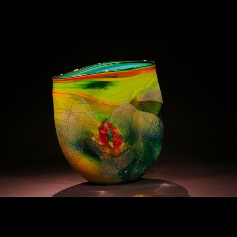 Ocean Reef Series Blown Glass - Light and Dark Greens