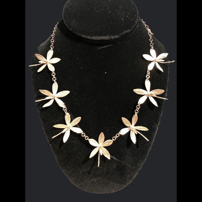 Seven Med Orchid Necklace
