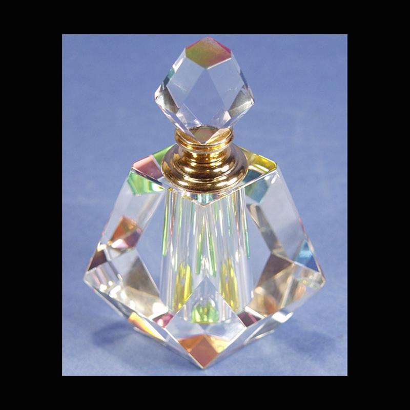 "Crystal Perfume Bottle 4.5"" x 3.5"""