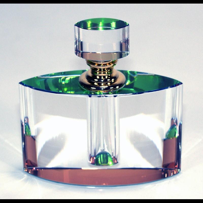 "Crystal Perfume Bottle 4"" x 3.75 x 1.25-PO"