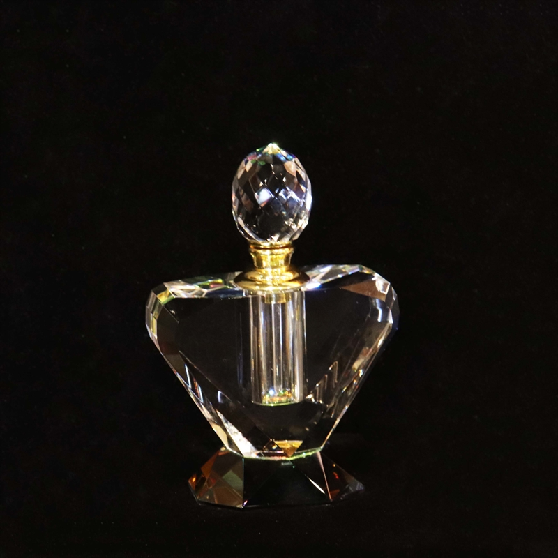 Crystal Perfume Bottle 4.75x3x1.5