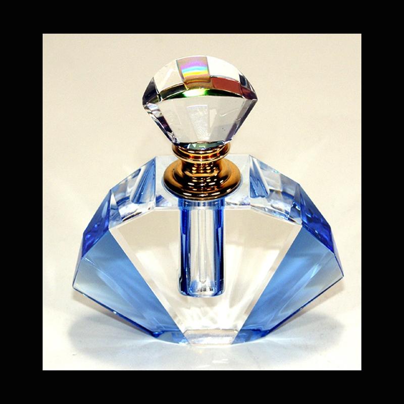 "Crystal Perfume Bottle 3.75"" x 3.5"" x 1.25"""