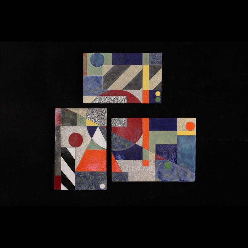 Aerial View - Triptych 44.5x46