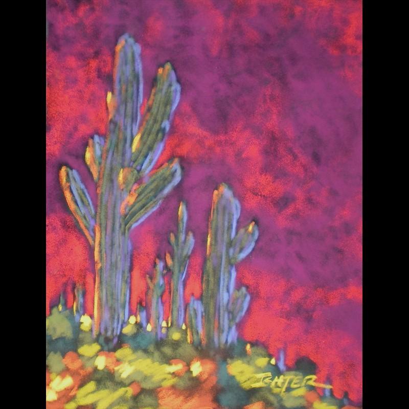 Neon Cactus 18x15