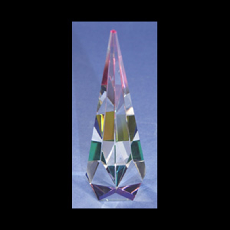 """Crystal Cathedral Faceted Sculpture 07""""-S"""