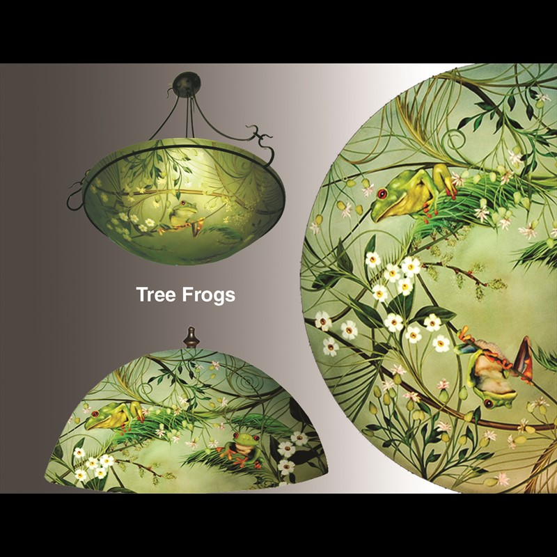Display Sconce-Tree Frogs Half Cylinder - S