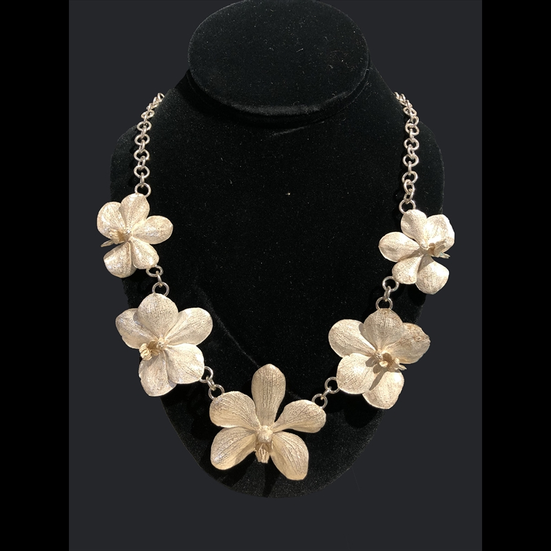 Five LG Orchid Necklace