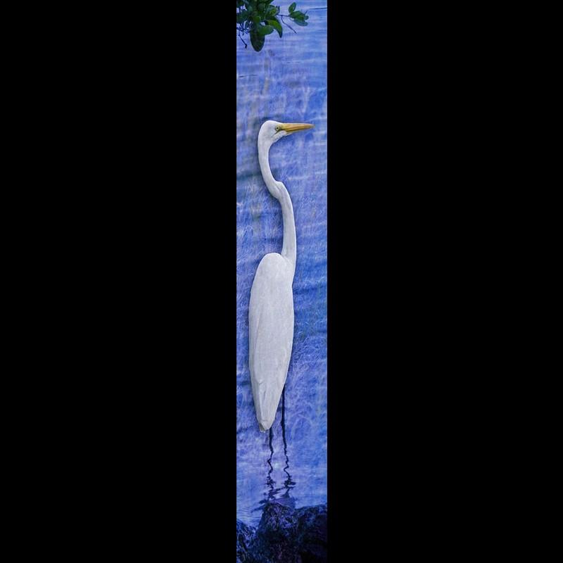 Solo Egret-Blue w/Gold Frame