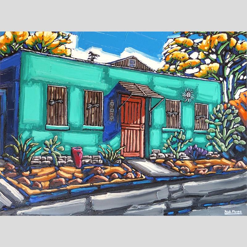 Spring Shade, Green Walls, Tucson Barrio