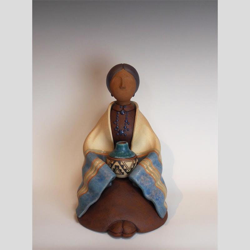 Seated Navajo Woman
