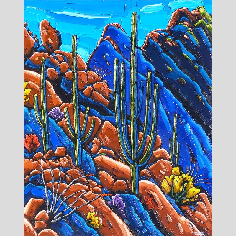 Cliffside Saguaros