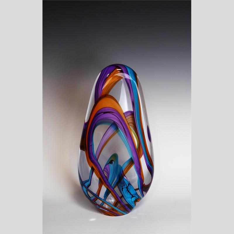 Color Ribbons Flat Sculptural