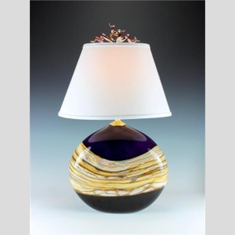 Amethyst Opal Flat Table Lamp