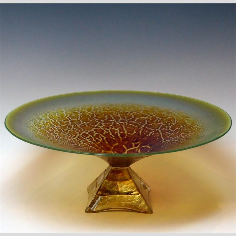 Jade Crackle Pyramid Bowl