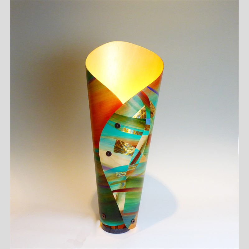 Turquoise River Lamp