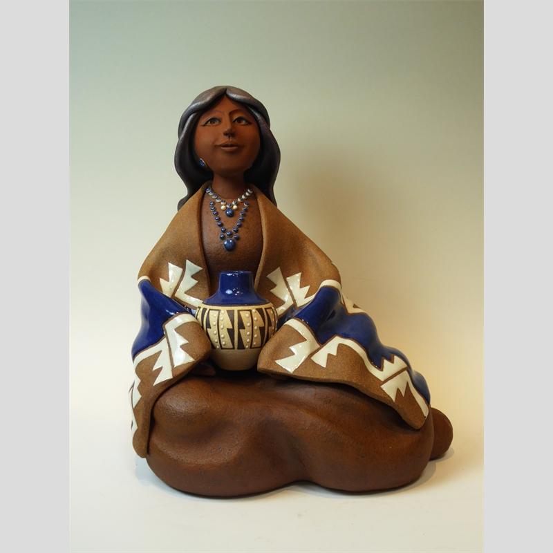 Zuni Maiden ~ Seated