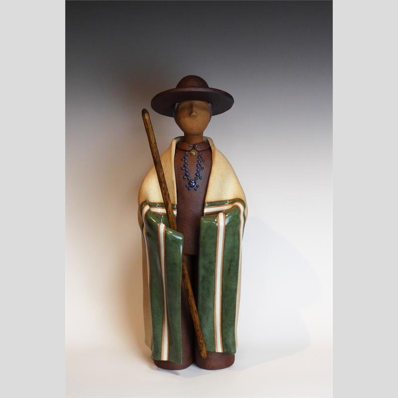 Navajo Man - Standing - Green Farmer