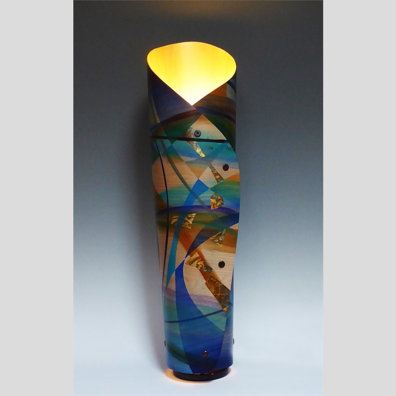 Turquoise River Sculptural Lamp