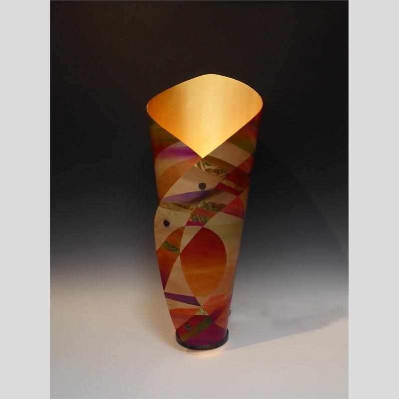 Canyon Sunset Sculptural Lamp