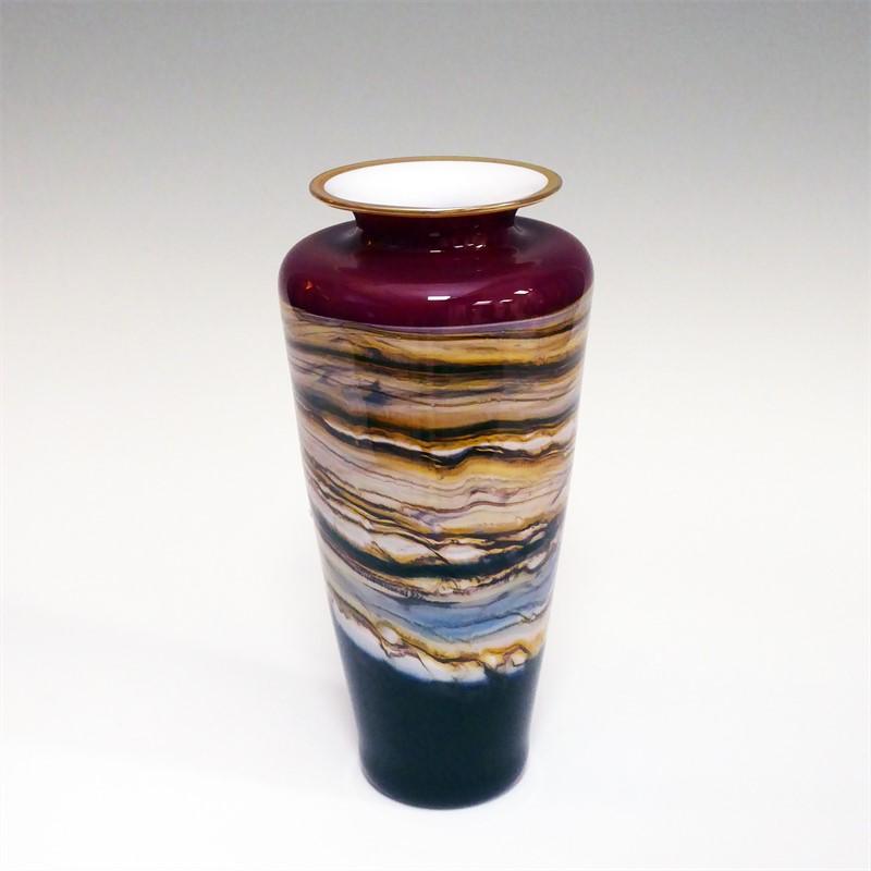 Ruby Strata Traditional Urn