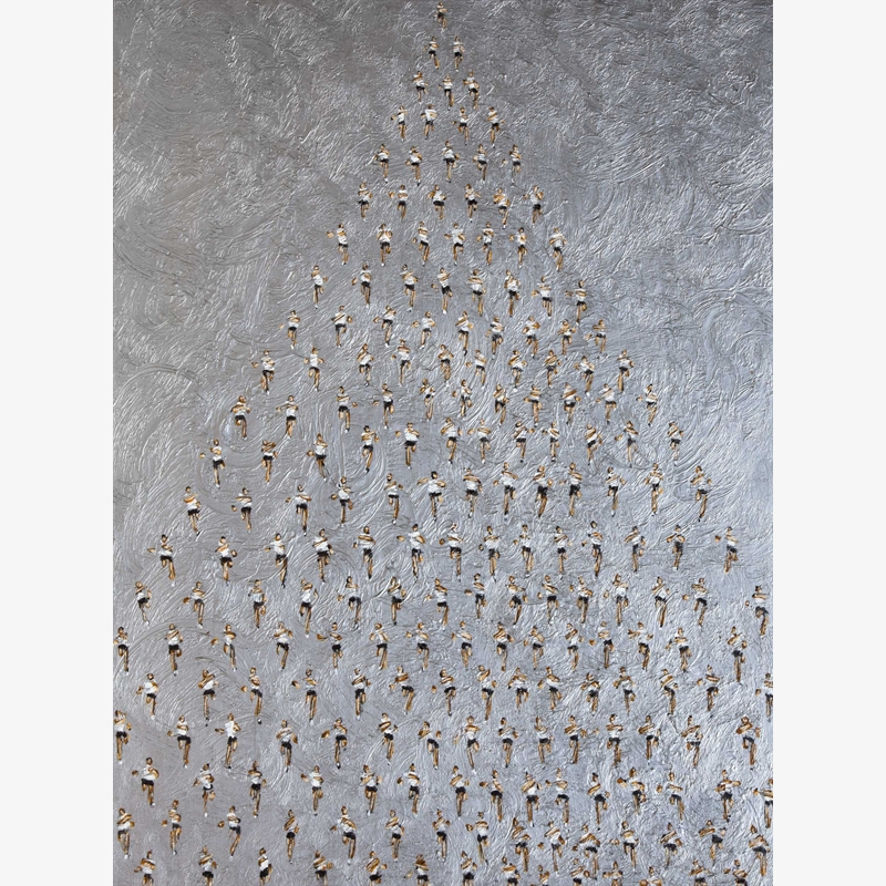 #666 Runners Pyramid on Silver, 2019