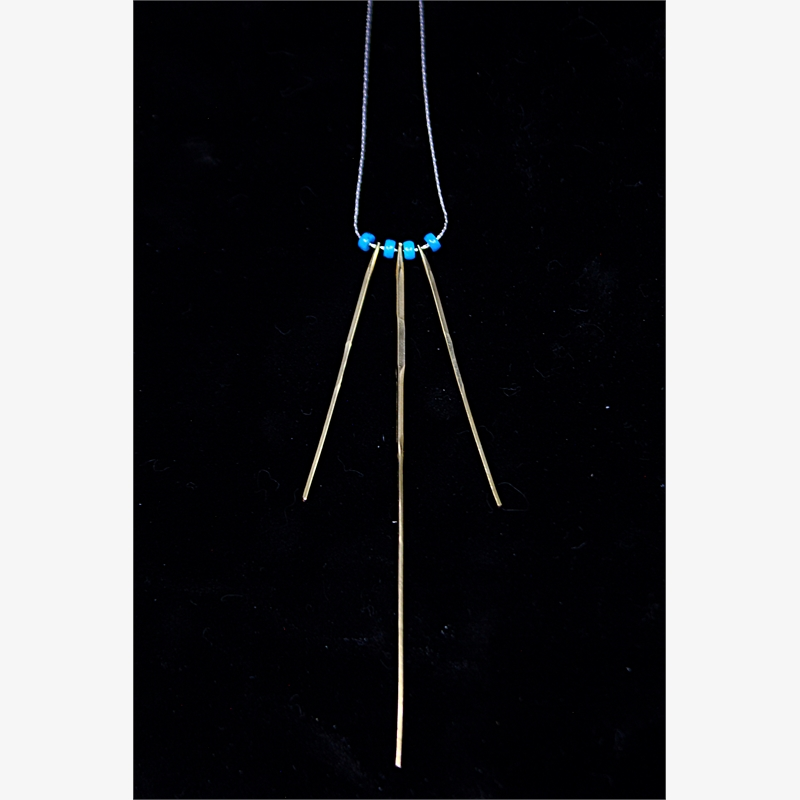 Long Turquoise Spine Necklace