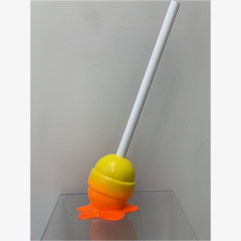 """The Sweet Life"" Orange / Yellow Lollipop - Small"