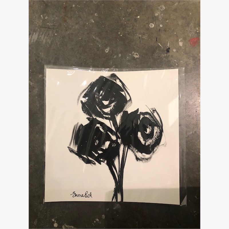 Black & White Three Roses, 2018