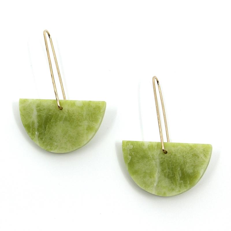 Yellow Serpentine Earrings