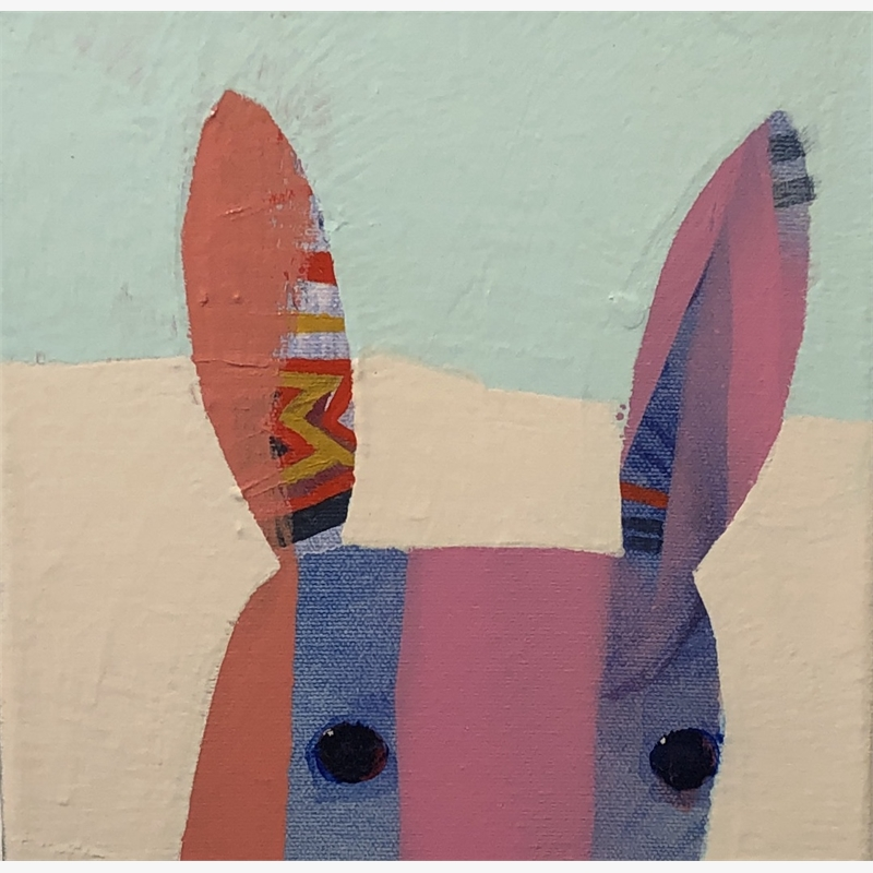 Pink Striped Bunny, 2019
