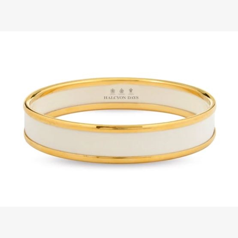 Ivory and Gold Medium Bangle by Halcyon Days