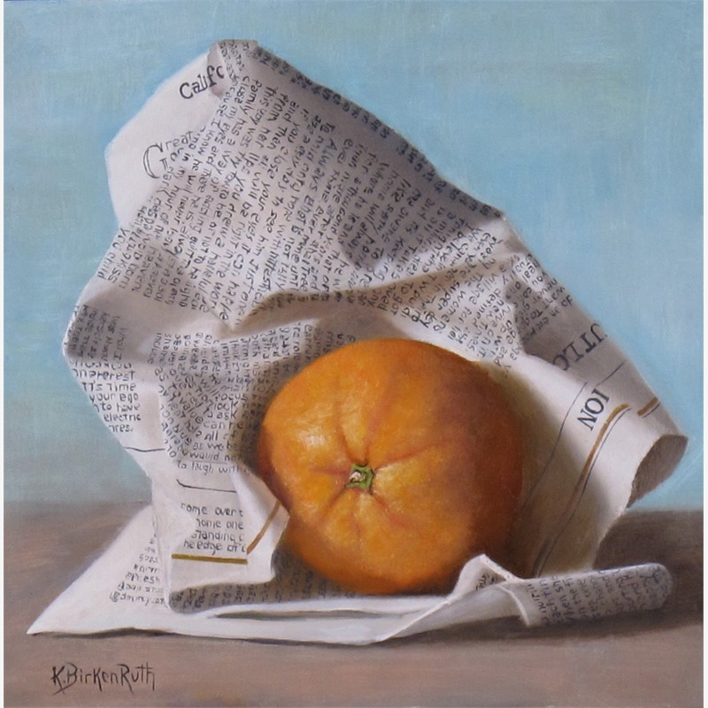 Wrapped Orange by Kelly Birkenruth