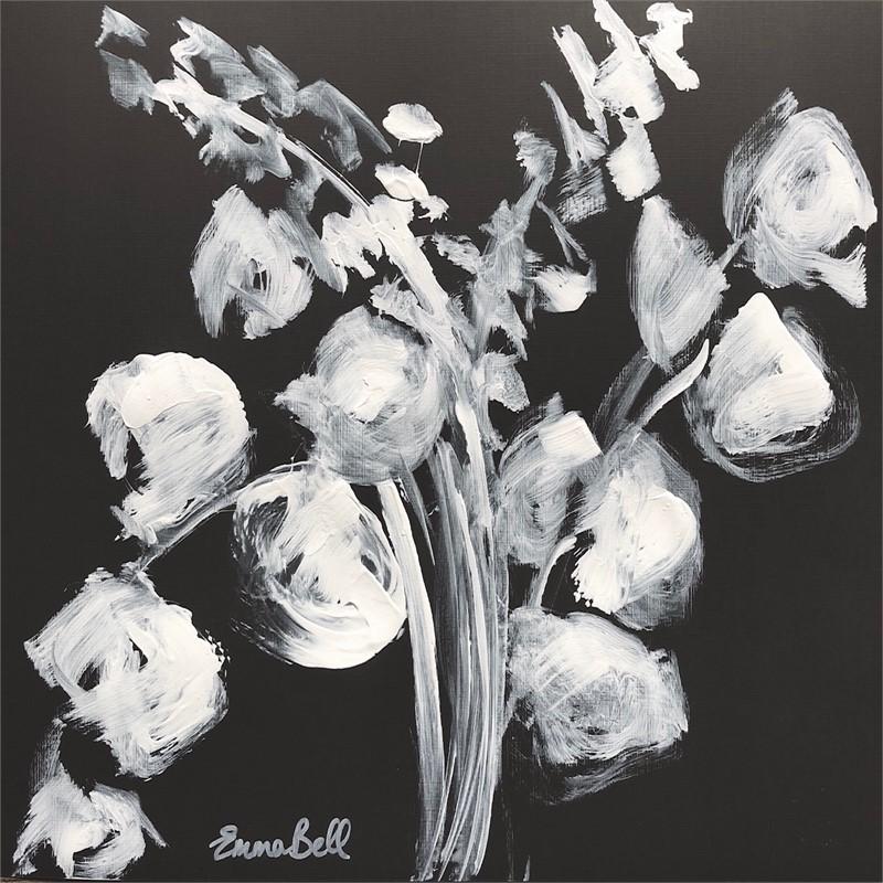 White on Charcoal Eucalyptus II, 2018
