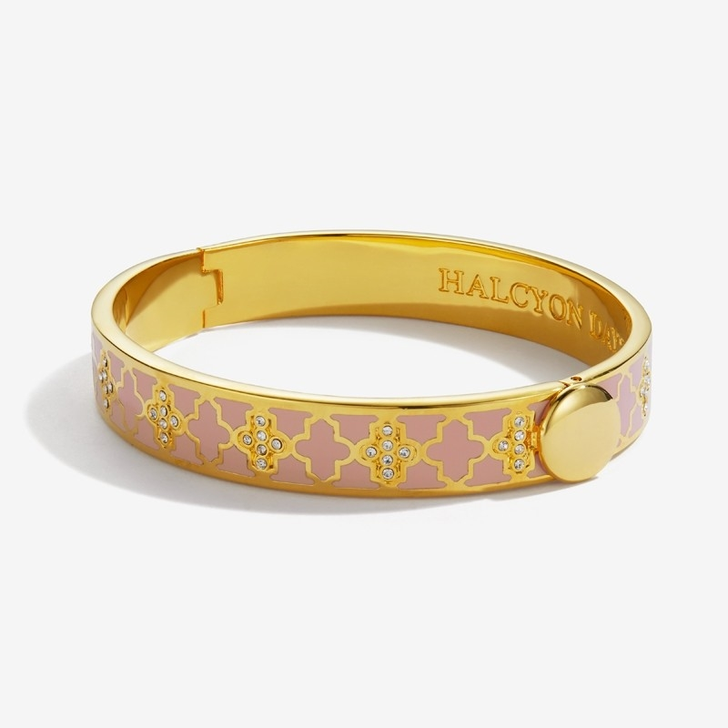 Agama Sparkle Pink & Gold Bangle by Halcyon Days