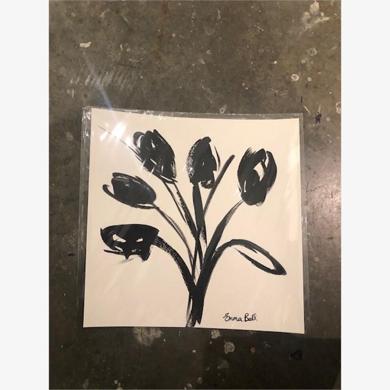 Black & White Tulips II, 2018