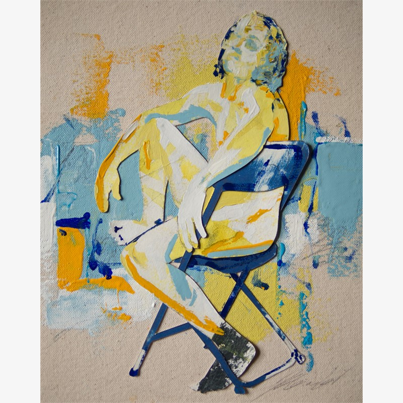 Geo and the Blue Chair, 2018