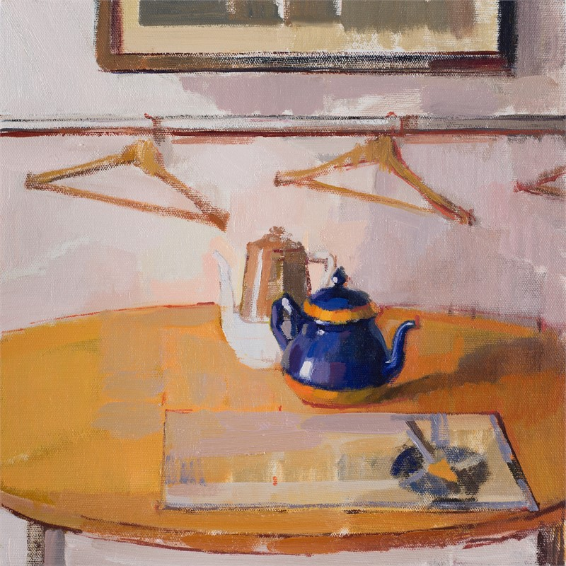 Blue Orange Kettle by Hiroshi Sato