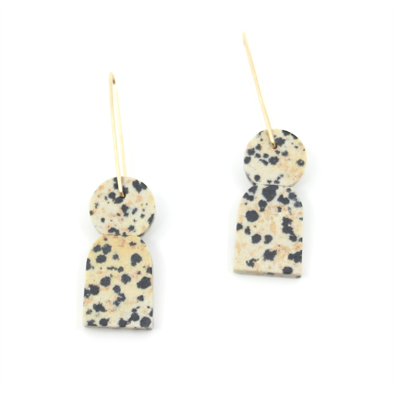 Dalmation Stone Earrings, 2019