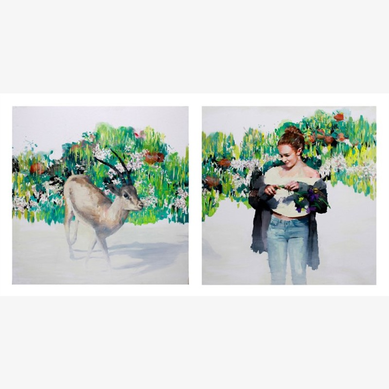 Gazella of Unexpected Love (diptych)