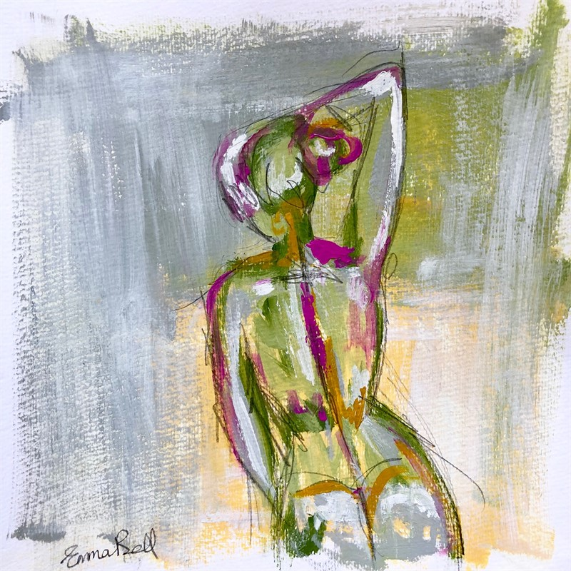 Green Gray Lady I, 2018