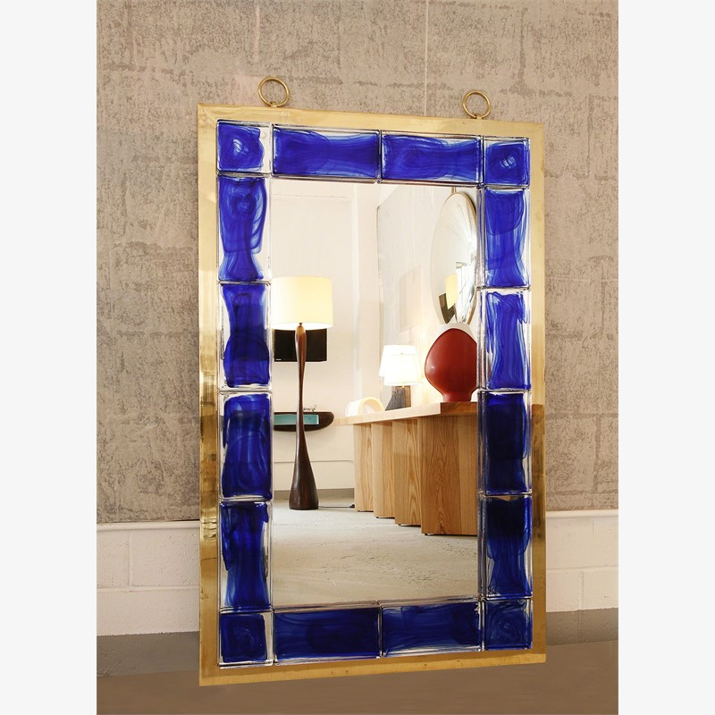 Blue tiled mirror, 2013