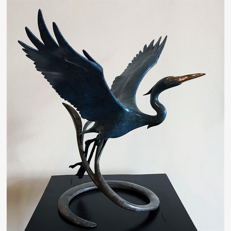 Open Wing Heron - Blue (17/85)