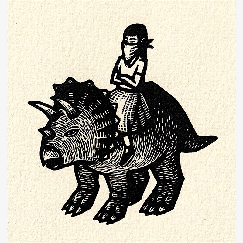 Untitled (Triceratops) (38/50), 2018