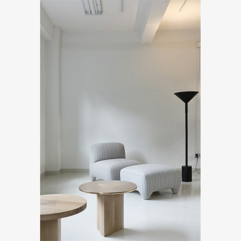 Slipper chair and ottoman, 2018