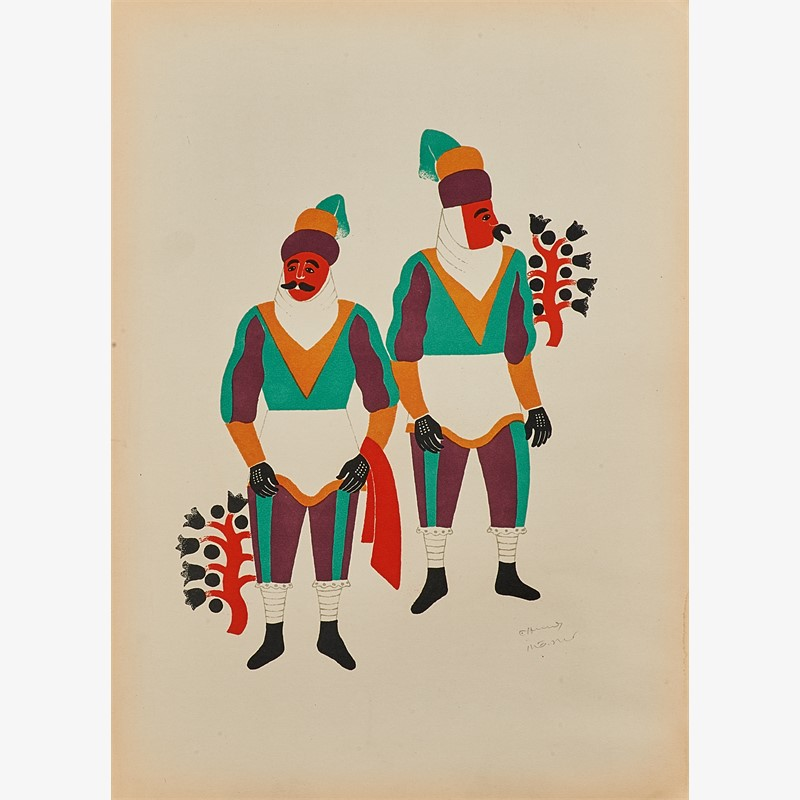 Two Men From Ocotoxco Dressed as Moors, 1940