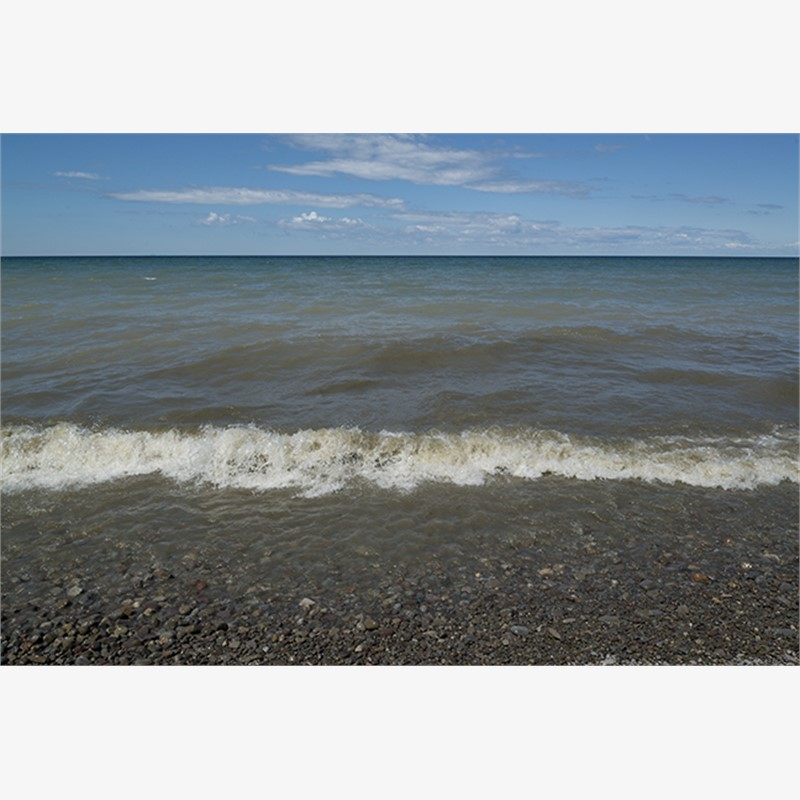 Lake Ontario Beach III by Frank Sherwood White