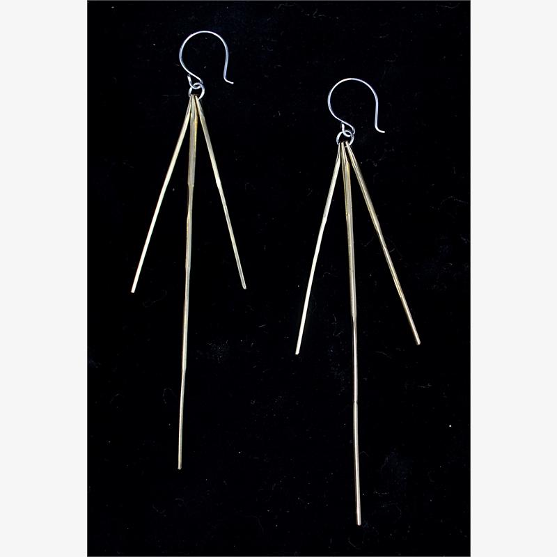 Triple Spine Earrings