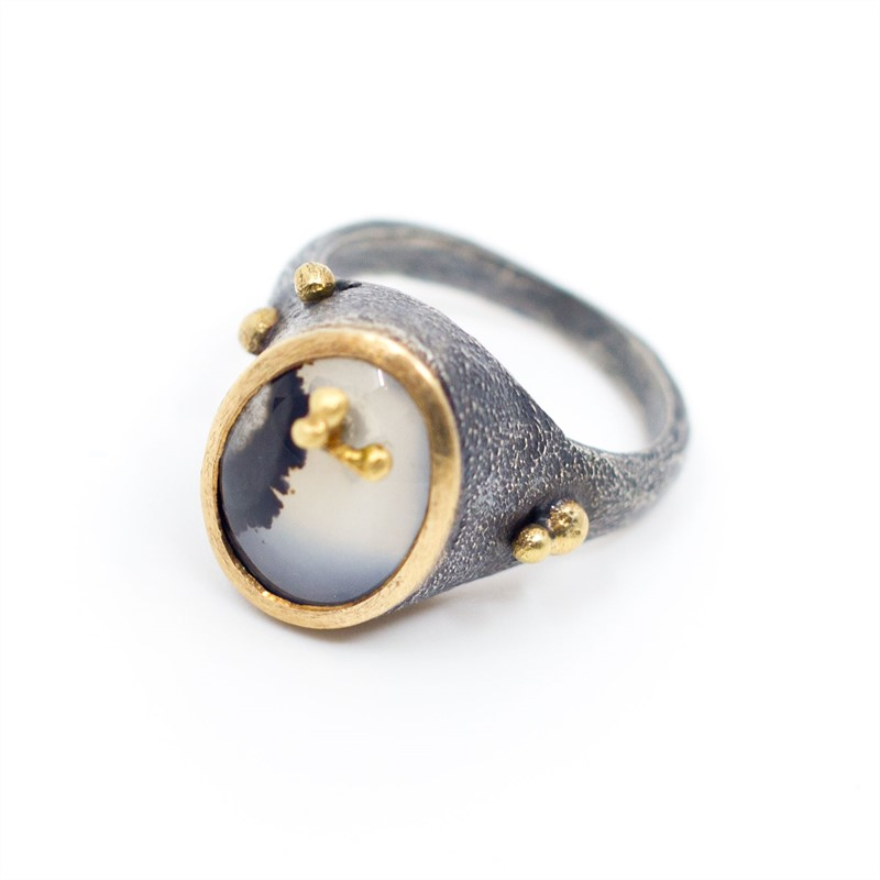 Sprouted Agate Ring, 2019