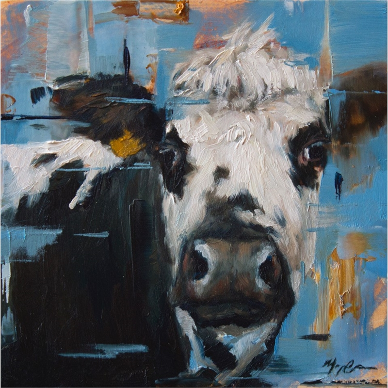 Blue Cow Portrait, 2019